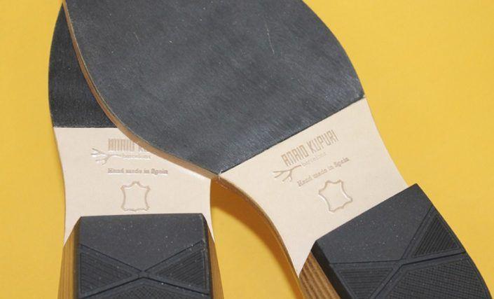 Suelas para calzado de diseño.
