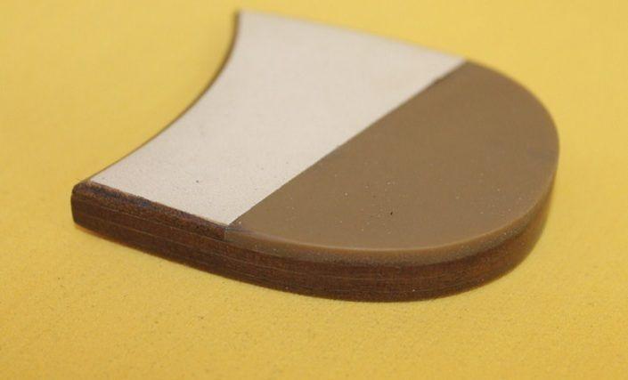 Parte del tacón de una suela.
